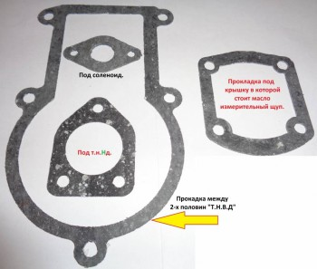 Комплект прокладочек необходимый при полной разборке Т.Н.В.Д . - Комплект прокладочек необходимый при полной разборке ТНВД..jpg