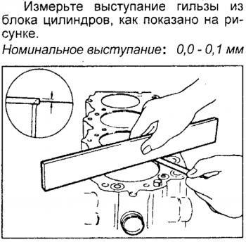 После установки гильз в блок цилиндров надо измерить ВЕЛИЧИНУ ВЫСТУПАНИЯ её из блока цилиндров. Иначе после затяжки возможен: 1 прорыв газов в антифриз. 2 попадание масла в антифриз. из-за плохого обжима прокладки ГБЦ . - После установки гильз в блок цилиндров надо измерить ВЕЛИЧИНУ ВЫСТУПАНИЯ её из блока цилиндров. Иначе после заятжки возможен прорыв газов в С.О или попадание масла в С.О из за плохого обжима прокладки ГБЦ..png