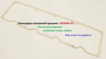 Прокладка клапанной крышки: 1003046-X2 Не жлобься Она же стоит на другом Китайце. BAW Fenix 1065 1044 евро 2, 3 - Прокладка клапанной крышки 1003046 X2.JPG