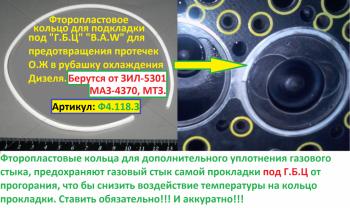 Фторопластовое кольцо артикул: Ф4.118.3 - Фторопластовое кольцо артикул Ф4.118.3.png