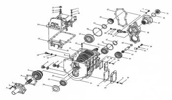 Схема КПП FAW 1051. - Схема КПП FAW 1051..png