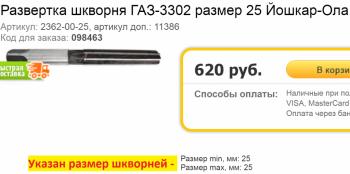 Развёртка. Артикул: 2362-00-25 или 11386. - Развёртка. Артикул 2362-00-25 или 11386..png