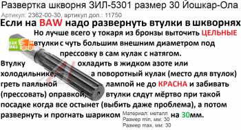 Развёртка для BAW Артикул: 2362-00-30 - Развёртка для BAW Артикул 2362-00-30.png
